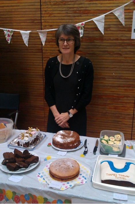 Bronwyn Hill judges the cake competition.