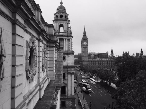 A view from a window of our office. You can see Big Ben.